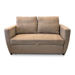 Bravo_ספה דו-מושבית נפתחת למיטה זוגית צבע חום בהיר מבית ברדקס