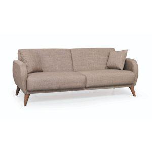 Mozzi_ספה תלת מושבית נפתחת למיטה חום בהיר מבית ברדקס