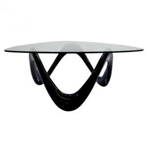 Flora_black שולחן סלוני מעוצב