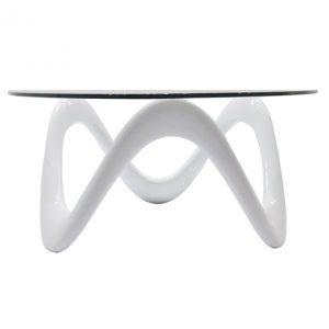 Flora_white שולחן סלוני מעוצב