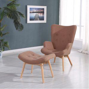 כורסא מעוצבת עם הדום Calipso