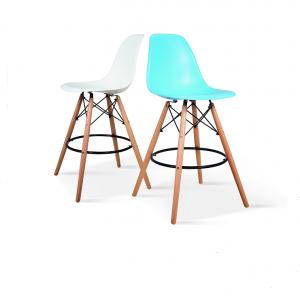 כסא בר מעוצב עם רגלי עץ מלא KARE shoppingil