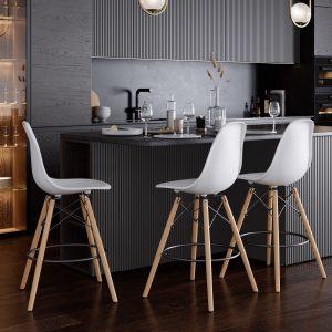 כסא בר MEMPHIS מודרני במגוון צבעים