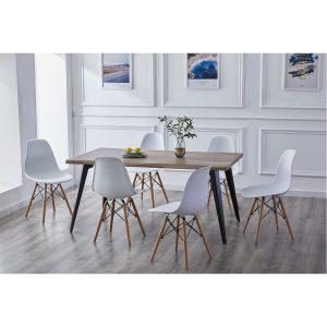 AMELY שולחן לפינת אוכל מעוצב 90*160 ס''מ
