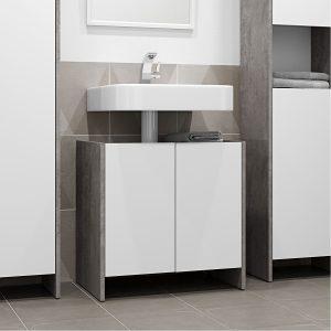 BIARITZ ארון אמבטיה מתחת לכיור 60 ס''מ עם 2 דלתות