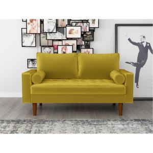 ספה דו-מושבית OCTAVIA צבע חרדל מבית ברדקס