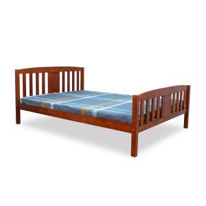 DEYA מיטה זוגית מעץ מלא למזרן 140*190 ס''מ