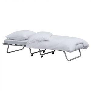 LUCCA מיטה מתקפלת כוללת מזרן עם גלגלים