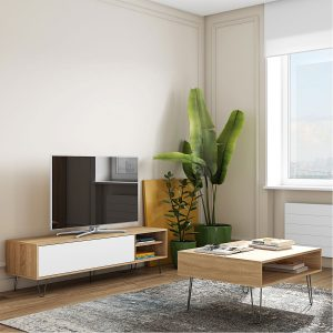 סט AERO כולל שולחן סלון ומזנון טלוויזיה