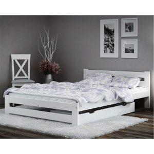 מיטה זוגית MIRA מעץ מלא עם ארגז מצעים למזרן 140*190 ס''מ