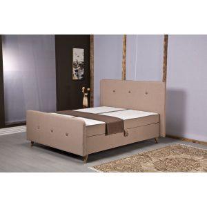 מיטה זוגית 160*200 ס''מ עם ארגז מצעים כוללת זוג מזרנים מובנים PERA