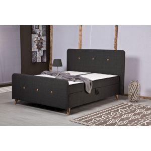 PERA מיטה זוגית עם ארגז מצעים כוללת זוג מזרנים מובנים