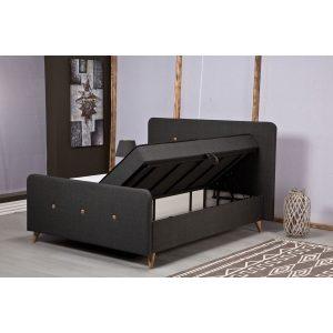 מיטה זוגית 140*190 ס''מ עם ארגז מצעים כוללת זוג מזרנים מובנים PERA