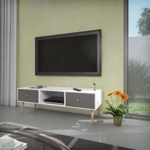 מזנון טלוויזיה ROMA לבן