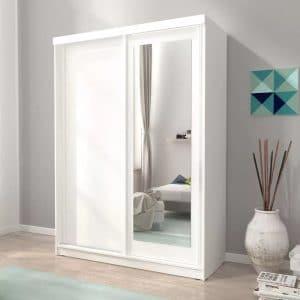 ארון הזזה ALASKA עם דלת משולבת מראה 150 ס''מ תוצרת אירופה
