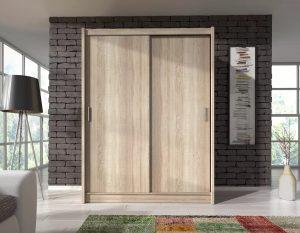 ארון הזזה 2 דלתות SONOMA בעיצוב קלאסי 150 ס''מ