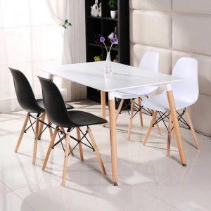 פינת אוכל BRAGA כוללת שולחן מלבני ו4 כסאות במגוון צבעים