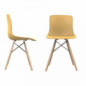 MAYA כסא לפינת אוכל צבע צהוב