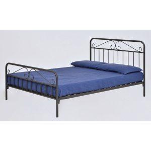 מיטת מתכת DION מעוצבת זוגית למזרן 140*190 ס''מ