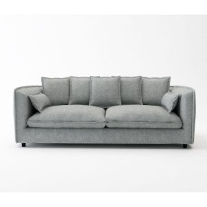 ADAM ספה תלת מושבית מעוצבת עם כריות נוי