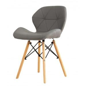 כסא מעוצב DOVER לפינת אוכל מרופד דמוי עור