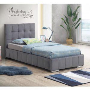מיטת יחיד SPANISH מרופדת בד קטיפתי למזרן 90*190 ס''מ