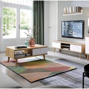 PRIMO סט מזנון טלוויזיה ושולחן סלון