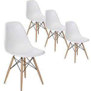URSULA 4 כסאות צבע לבן מבית ברדקס