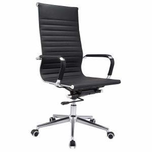 כסא מנהלים יוקרתי VIKAN מרופד עור