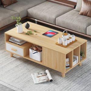 שולחן סלון TED עם מגירה ותאי אחסון