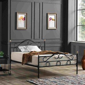 מיטה זוגית TRUVA ממתכת למזרן 140*190 ס''מ במגוון צבעים
