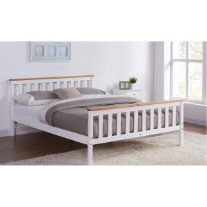 מיטה ברוחב וחצי VISTA מעץ מלא למזרן 120*190 ס''מ
