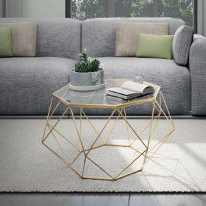 DIAMOND שולחן סלון צבע זהב