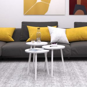 שלישיית שולחנות סלון SARAGOSSA מדורגים במגוון צבעים לבחירה