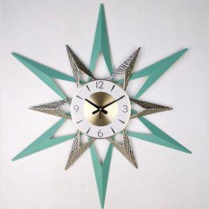 Taco שעון קיר מעוצב קוטר 80 ס''מ צבע ירוק