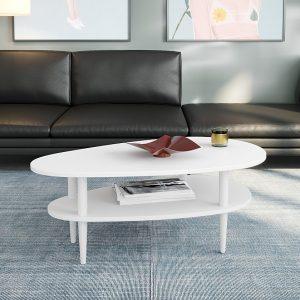 UTAH שולחן סלון לבן