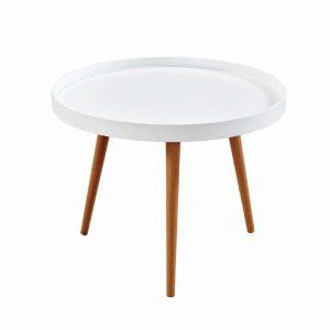 שולחן סלון NETTO עם רגלי עץ מלא