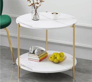 שולחן צד PRINCE עגול עם מדף