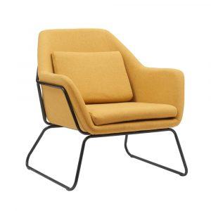 כורסא מעוצבת BRIGHTON עם רגלי ברזל במגוון צבעים