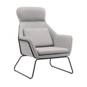 כורסא מעוצבת LIVERPOOL עם רגלי ברזל ומשענת גב גבוהה