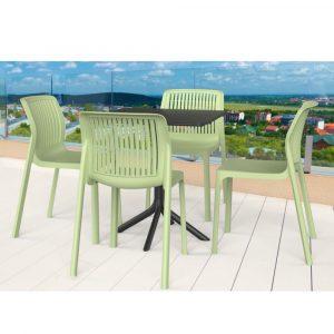 פינת אוכל ATHENA שולחן ו4 כסאות במגוון צבעים