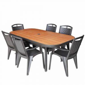 פינת אוכל BOLEVIA שולחן ו6 כסאות