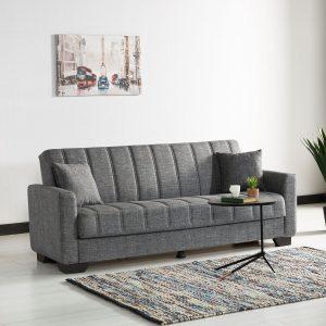 ספה תלת מושבית ASSOL נפתחת למיטה עם ארגז מצעים