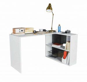 LIAM שולחן כתיבה פינתי עם ספריית צד
