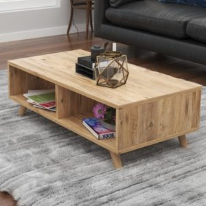 TAMARA שולחן סלון פרקטי עם 2 חללי אחסון