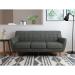 Picasso_ספה תלת מושבית מעוצבת אפור כהה