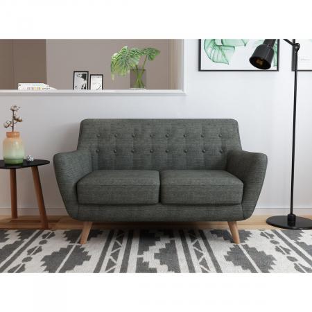 Picasso_ספה דו-מושבית מעוצבת אפור כהה מבית ברדקס
