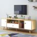 BUZZ מזנון טלוויזיה רוחב 140 ס''מ צבע אלון משולב לבן מבית ברדקס