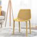 PRIDE כסא לפינת אוכל מפלסטיק צבע צהוב