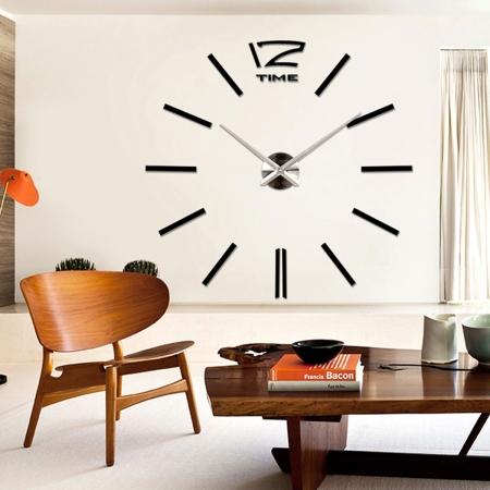 שעון קיר מעוצב 12S003_black